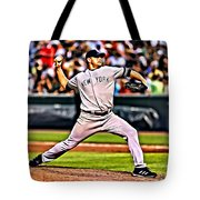 Roger Clemens Painting Tote Bag