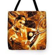 Roger Federer Clay Tote Bag