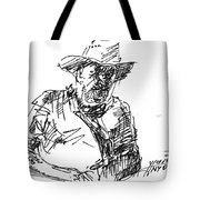 Roger In A Cowboy Hat Tote Bag