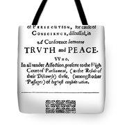 Roger Williams Tenent Tote Bag