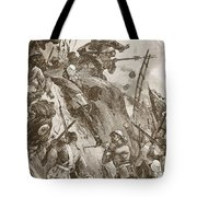 Rogers Got In, Helped Up By Lieutenant Tote Bag by William Heysham Overend