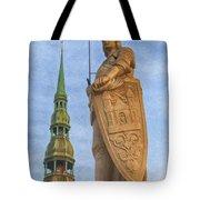 Roland Of Riga Painting Tote Bag