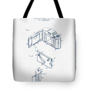 Roll Film Camera Patent From 1952- Blue Ink Tote Bag