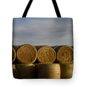 Rolled Hay   #1056 Tote Bag