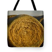 Rolled Hay   #1074 Tote Bag
