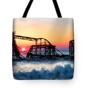 Roller Coaster After Sandy Tote Bag by Tony Rubino