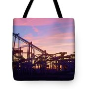 Roller Coaster At The  Nj Shore Tote Bag