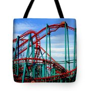 Roller Coaster Painting Tote Bag