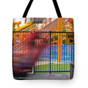 Rollercoasters At Amusement Park Tote Bag