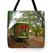 Rollin' Thru New Orleans Painted Tote Bag