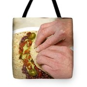 Rolling A Vegetarian Wrap Tote Bag