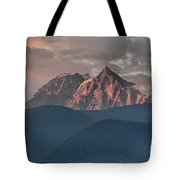 Rolling Hills And Purple Tantalus Peaks Tote Bag