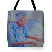 Rolling Out Dumplings Tote Bag