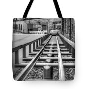 Rolling The Barrels In Monochrome Tote Bag
