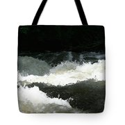 Rolling White Water Tote Bag