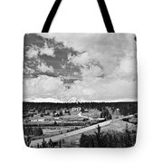 Rollinsville Colorado Small Town 181 In Black And White Tote Bag