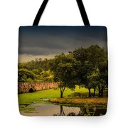 Roman Bridge By The Lake Tote Bag