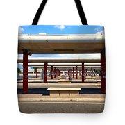 Roman Bus Stop Tote Bag