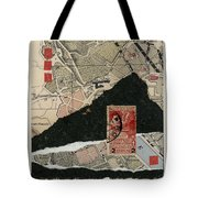 Roman Map Collage Tote Bag
