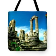 Roman Ruins From Above Tote Bag