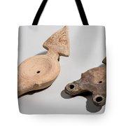 Roman Terracotta Oil Lamps Tote Bag by Ilan Amihai