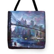 Romance By East River II Tote Bag