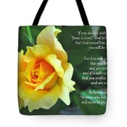 Romans Yellow Rose Tote Bag