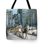 New York 5th Avenue Ride - Fine Art Tote Bag