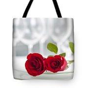 Romantic Dinner Setting Tote Bag