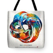 Romantic Love Art - The Love Knot - By Sharon Cummings Tote Bag