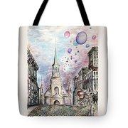 Romantic Montreal Canada - Watercolor Pencil Tote Bag