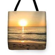 Romantic Ocean Swim At Sunrise Tote Bag