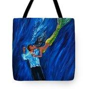 Romantic Rescue Tote Bag by Leslie Allen