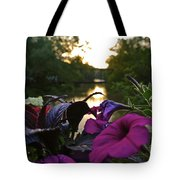 Romantic River View Tote Bag