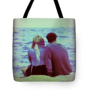 Romantic Seaside Moment Tote Bag