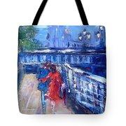Romantic Stroll Dublin Ireland Tote Bag