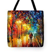 Romantic Stroll - Palette Knlfe Oil Painting On Canvas By Leonid Afremov Tote Bag