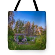 Romantic View By The Methow River Tote Bag