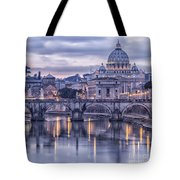 Rome And The River Tiber At Dusk Tote Bag