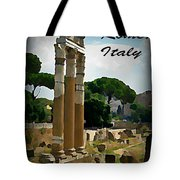 Rome Italy Poster Tote Bag by John Malone