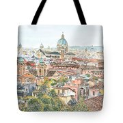 Rome Overview From The Borghese Gardens Tote Bag by Anthony Butera