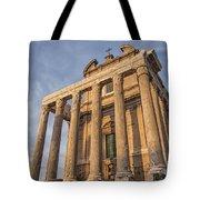 Rome Temple Of Antoninus And Faustina 01 Tote Bag