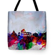 Rome Watercolor Skyline Tote Bag