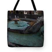 Rome's Fabulous Fountains - Fontana Della Barcaccia - Spanish Steps  Tote Bag
