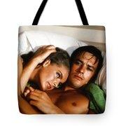 Romy Schneider And Alain Delon Tote Bag