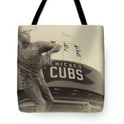 Ron Santo Chicago Cub Statue In Heirloom Finish Tote Bag