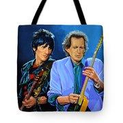 Ron Wood And Keith Richards Tote Bag
