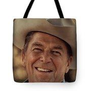 Ronald Reagan In 1976 At His Home At Rancho Del Cielo Tote Bag