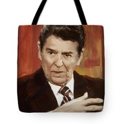 Ronald Reagan Portrait 2 Tote Bag by Corporate Art Task Force