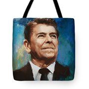 Ronald Reagan Portrait 6 Tote Bag by Corporate Art Task Force